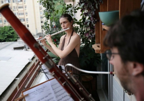 Balkonový koncert žáků ZUŠ Holešov