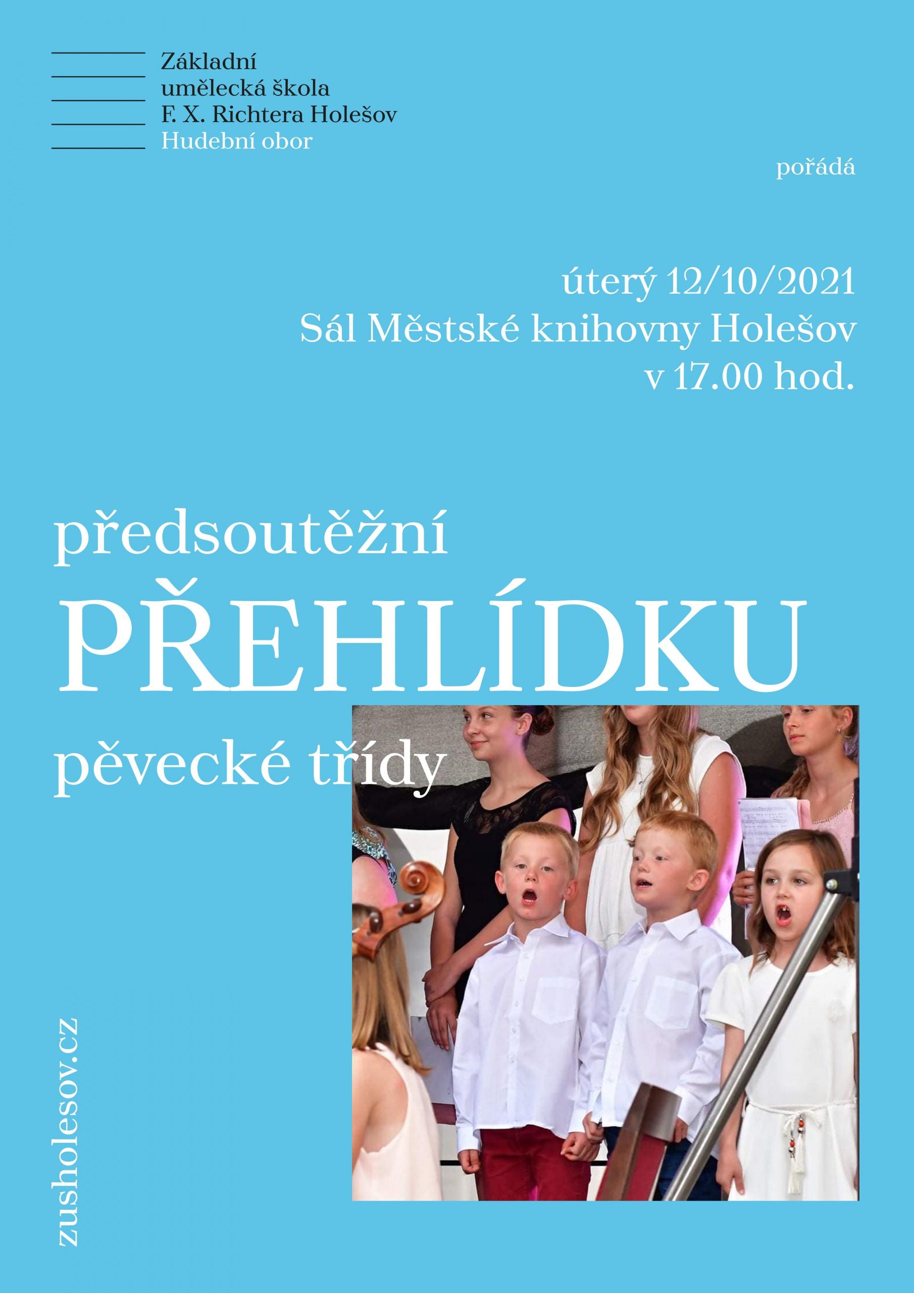Koncert pěvecké třídy v sále Městské knihovny v Holešově